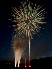 After a one day delay Lebanon launched the scheduled July 4th fireworks at Coleman Memorial Park on Tuesday, July 5, 2016.