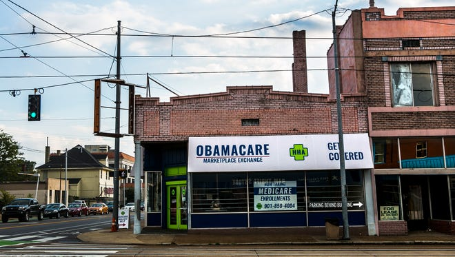 """October 27, 2016 - The Obamacare Marketplace Exchange is located in Midtown at 1335 Madison Ave. The Affordable Care Act, aka """"ObamaCare"""", begins its open enrollment on November 1. (Yalonda M. James/The Commercial Appeal)"""