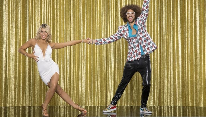 """The 10th anniversary celebrity cast of """"Dancing with the Stars"""" is strapping on their ballroom shoes and getting ready for their first dance on Monday, March 16, on the ABC Television Network. Redfoo partnered with Emma Slater."""