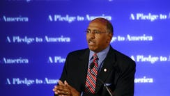 Michael Steele speaks during RNC Election Night results