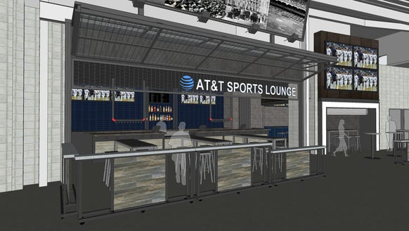 A rendering of the AT&T Sports Lounge, being added