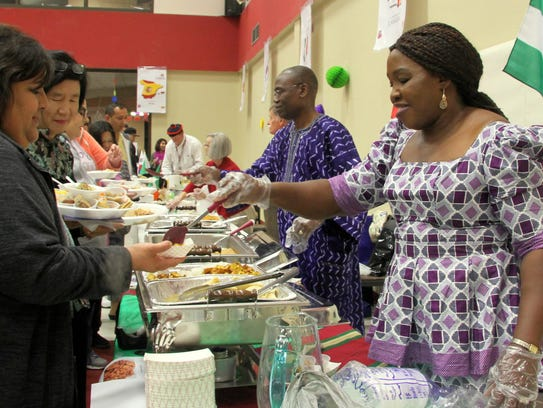 Andrew and Grace Nwanne serve homemade Nigerian food