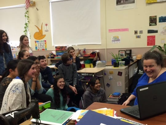 Readington Middle School eighth graders Skype with The Little Prince director Mark Osborne