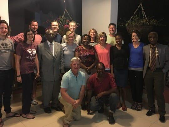 Leadership of Trinity Presbyterian and their Haitian