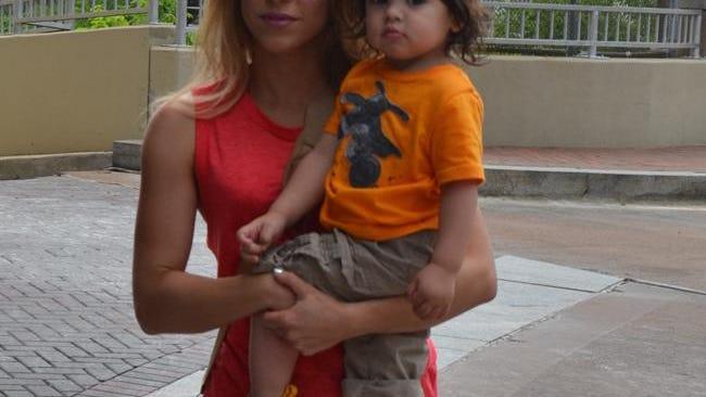 Shakira with eldest son Milan