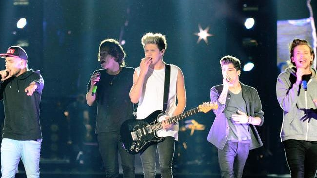 One Direction during their South American tour