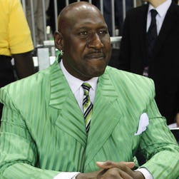 Darryl Dawkins spent parts of 14 seasons in the NBA with Philadelphia, New Jersey, Utah and Detroit. He averaged 12 points and 6.1 rebounds in 726 career regular-season games.