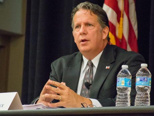 State Rep. Joel Robideaux participates in a city-parish