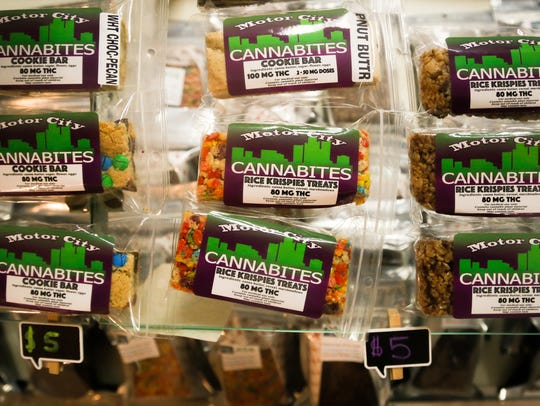 Edibles infused with THC.