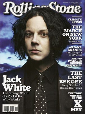 Jack White is on the cover of the latest issue of Rolling Stone