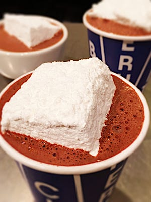 Famed hot chocolate from New York's City Bakery .