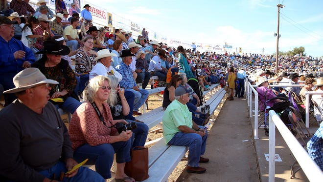 Fans packed the stands for the 63rd Annual Cinch Roping Fiesta on Saturday (Adam Sauceda/Standard-Times).