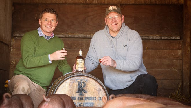 Scott Bush and Keith Kerkhoff of Templeton Rye. Bush, left, will speak at next month's EntreFest entrepreneurial conference, officials announced Tuesday.