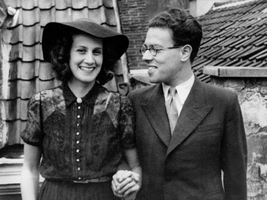 Tina Buchter Strobos, shown here with one-time fiancé Bram (Abraham) Pais, was active in the underground resistance in Nazi-occupied Amsterdam.