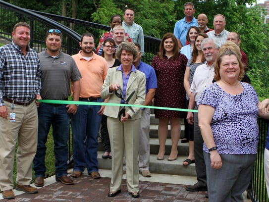Mayor Kim McMillan presided over a ribbon-cutting Wednesday,