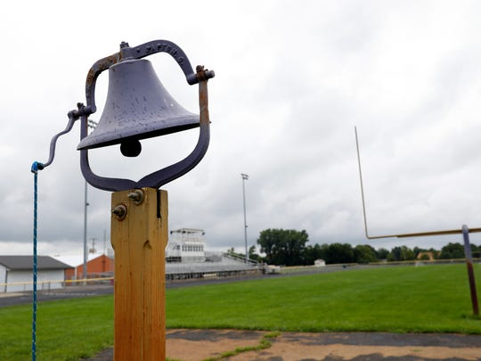 The victory bell at Millersport High School won't ring