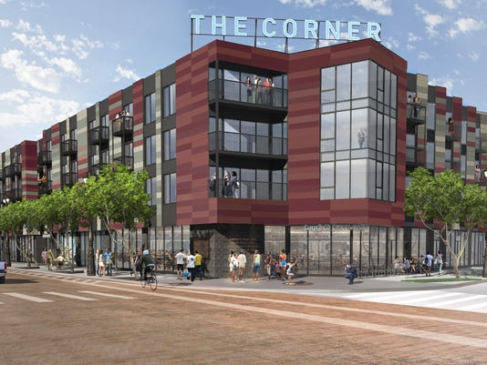 The Corner project at Michigan and Trumbull