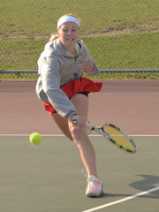 Churchill freshman Kaitlyn Rogosch captured the No. 1 singles title at Saturday's Livonia City Tournament.