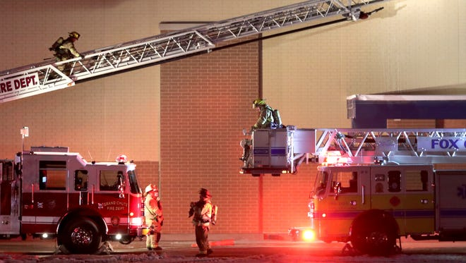 Multiple fire departments, led by Grand Chute, were on the scene Wednesday night for a structure fire at the new Meijer store being built near the intersection of Richmond Street and I-41 in Grand Chute.