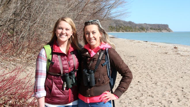 Alyssa Armbruster (left) and Julia Robson, both of Milwaukee, are organizing Walk to Sustain Our Great Lakes.