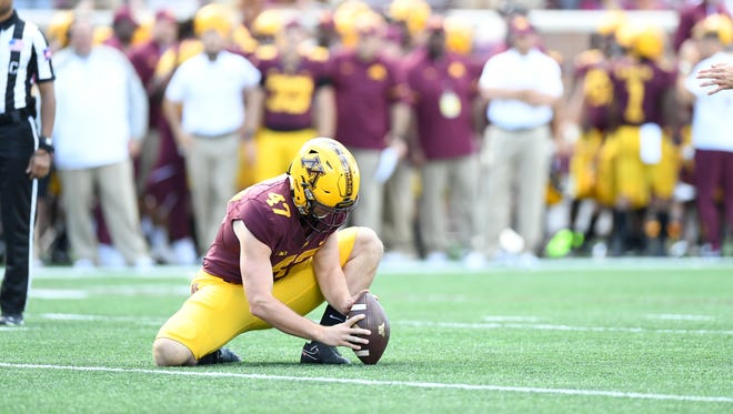 University of Minnesota redshirt freshman and Lakeview High School graduate Jacob Herbers.