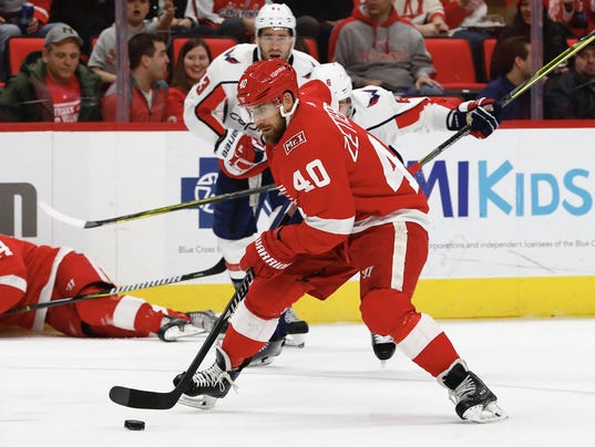 NHL: Washington Capitals at Detroit Red Wings