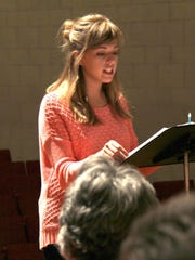Olivia Heacock, a senior in the music therapy program