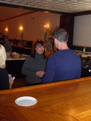 Lorraine Scudder, candidate for Pennsylvania's 101st Legislative District, speaks with Eugene DePasquale, auditor general of Pennsylvania, at Saturday's Lebanon County Democratic Party Fall Dinner at All About You Catering, 302 E. Lehman St., Lebanon. Other candidates also appeared at the event. The election will be held Nov. 8.