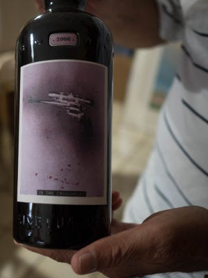 Harvey Kornicks' career in the arts gives him an extra appreciation of the wines produced by Sine Qua Non, a 'cult wine' vineyard in California. The owner of the vineyard designs all the labels and never repeats one from year to year.