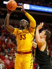 Iowa State forward Solomon Young (33) shoots the ball