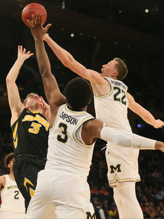 NCAA Basketball: Big Ten Conference Tournament-Michigan vs Iowa