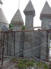 This July 11, 2012 photo shows the renovation of Fairy