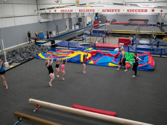 Monday was the first day of classes since Gymnastic World was flooded for the first time in August. Hurricane Irma brought another flood, so the gym has been completely remodeled.