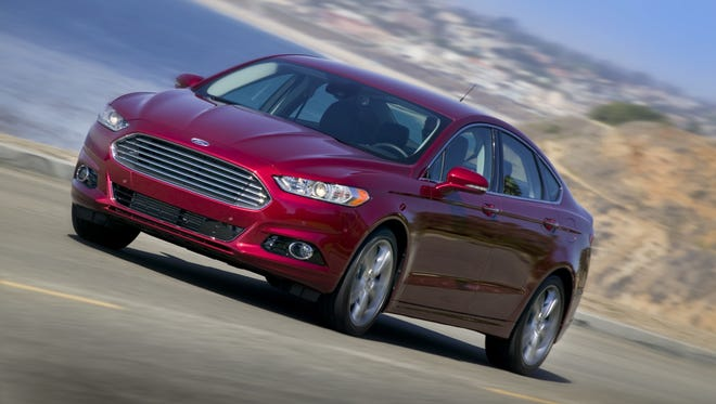 A 2013 Ford Fusion, one of the models recall by Ford on Wednesday.