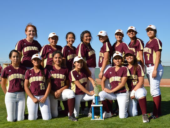 The Gadsden softball team won the San Elizario/Tornillo