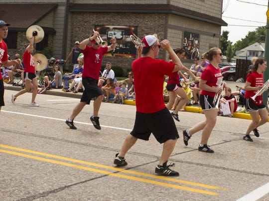 Members of the UW-Madison Marching Band participated in the 3013 Cranberry Blossom Fest parade and will be featured in this year's parade, set for June 21.