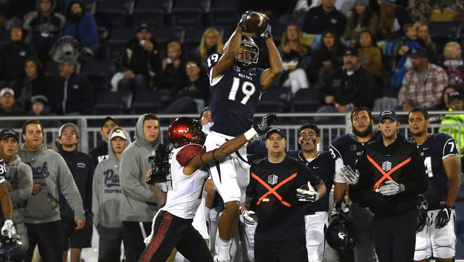Nevada's Wyatt Demps and the Wolf Pack host Utah State on Saturday.