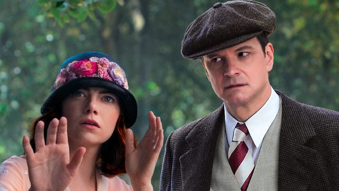 Emma Stone (left) and Colin Firth in a scene from the Woody Allen film 'Magic in the Moonlight.'