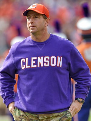 Clemson head coach Dabo Swinney