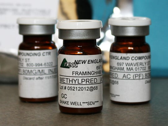 The Minnesota Department of Health shows vials, here Oct. 9, 2012, of the injectable steroid product made by New England Compounding Center implicated in a fungal meningitis outbreak that were being shipped to the Centers for Disease Control and Prevention in Atlanta from Minneapolis.