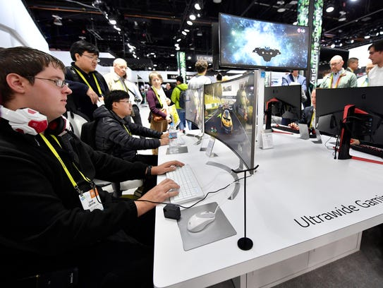 Attendees at last year's CES show.