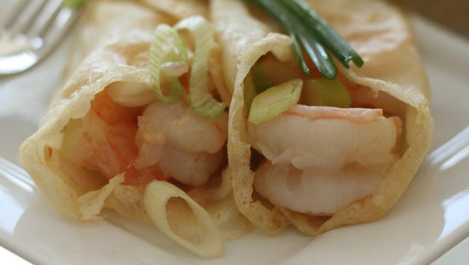For a savory palate, Shrimp Scampi Crepes may be more to your liking.
