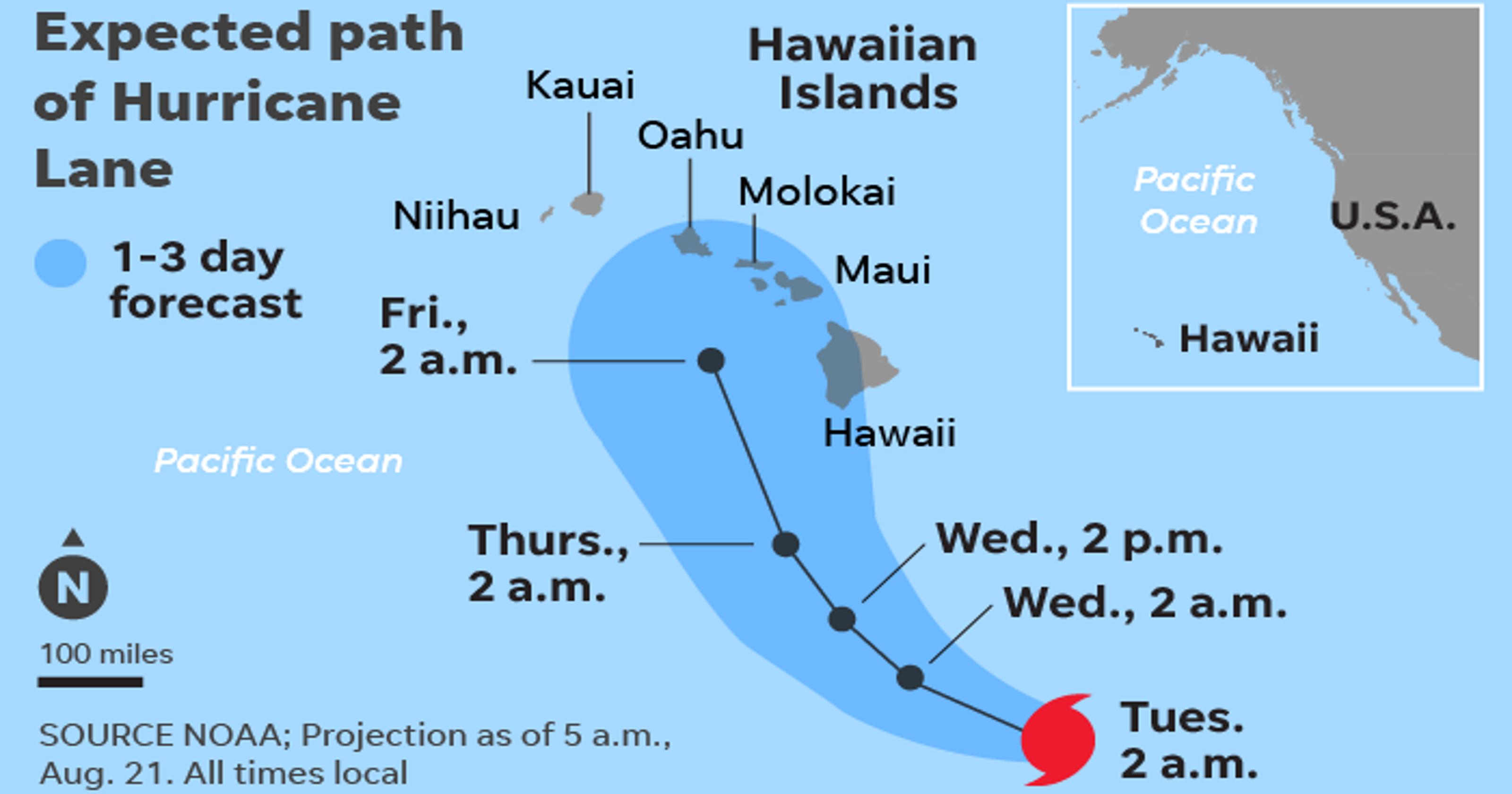 Hawaii prepares for Hurricane Lane
