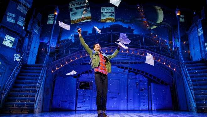 "Adam Chanler-Berat in ""Amelie:  A New Musical,"" on the set designed by David Zinn."