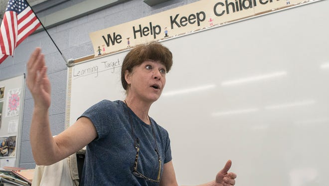 Child development teacher Nancy Yoas talks about the advantages of her new classroom, but mostly talks about the accomplishments made by her students.