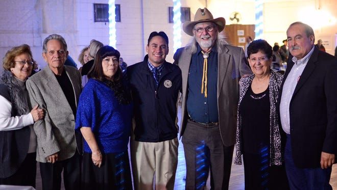 The Grant County Democratic Party recognized dedicated members on Jan. 15 in Santa Clara. Pictured are, from left, Party Chairwoman Frances Vasquez, Manuel Martinez, Lynn Baca, Sen. Howie Morales, Bill Hudson, Jovita Gonzales, Rudy Martinez.