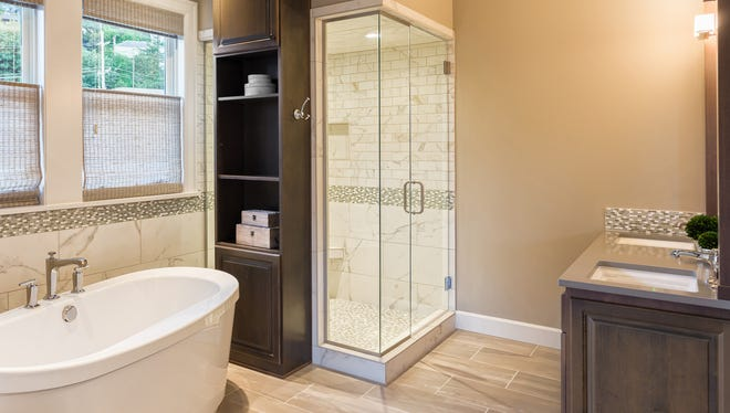 Nature colors like soft greens, tans and earth tones are popular in bathrooms.