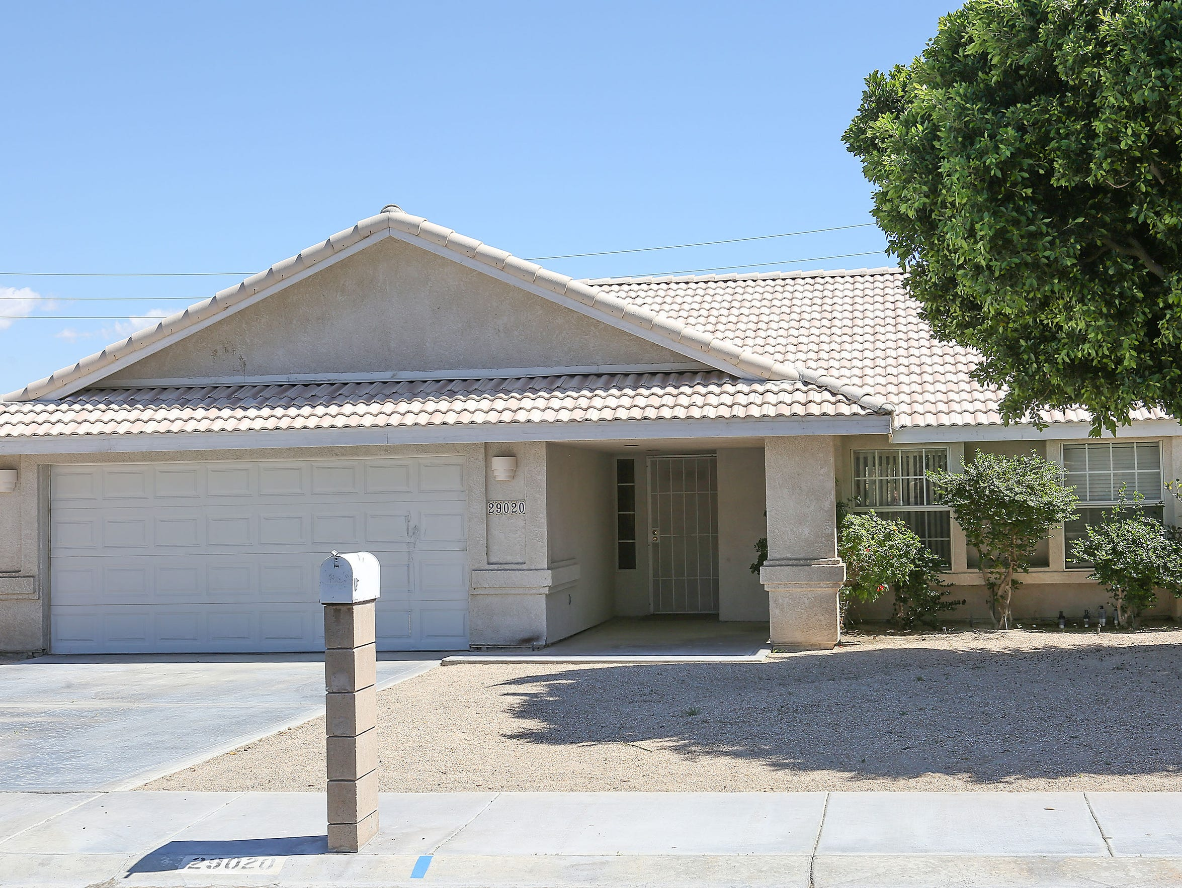The house in Cathedral City that Jim Smith rented from