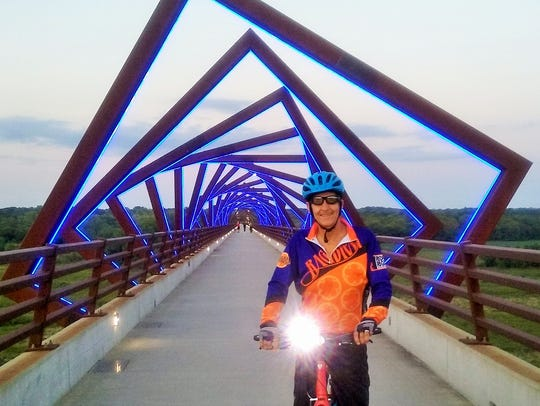 Richard Grugin recently biked the 25-mile High Trestle