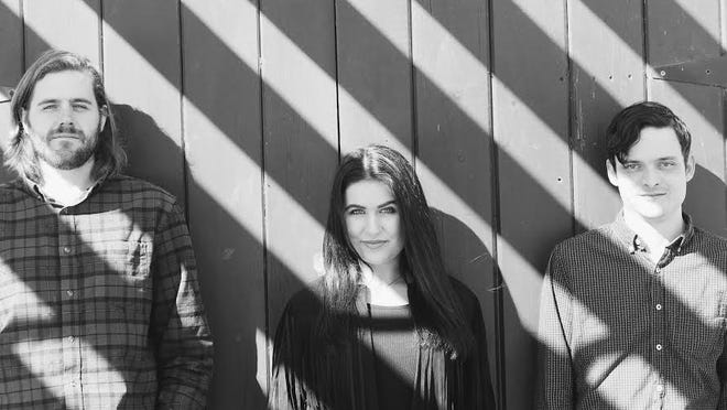 Cape Cod band Melic Moon just released an album that members produced themselves in their Sagamore Beach studio. Musicians are, from left, David Ellis, Amalia Ververis and Mike Machaby.